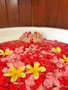 花びら,お風呂